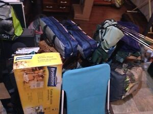 CAMPING ITEMS TENTS, CHAIRS MATTRESS, camping KITCHEN