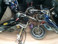 X2 mini moto dirt bikes spares or repair
