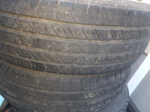 Two tires .