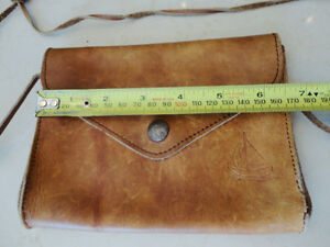 Vintage Leather Belt Sachel Pouch &Vintage Accounting Tally Book Kitchener / Waterloo Kitchener Area image 2