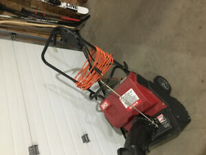 Craftsman's electric snowblower
