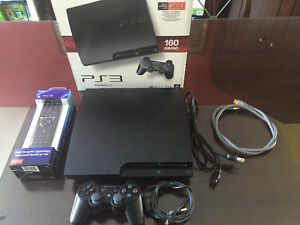 Playstation 3 PS3 Slim 160gb console+6 games+extra