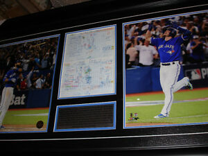Donaldson & Bautista photos & scoresheet (framed)