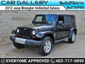 2012 Jeep Wrangler Unlimited Sahara w/BlueTooth, USB Connect $22