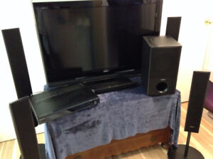 "40"" Sony Bravia TV with Home Theatre System"