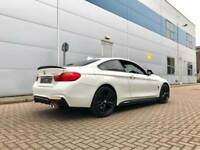 2013 63 reg BMW 435d xDrive M Sport Coupe + WHITE + RED Leather + M PERFORMANCE