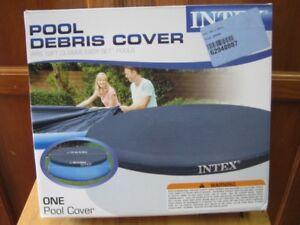 intex dedris pool cover. fits 12ft. easy set pools. 100% new