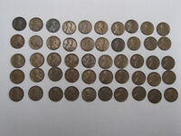 Lot of 50 Lincoln 'wheat cents', various years, conditions