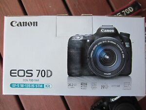 ** Canon EOS 70D + EF-S 18-135 IS STM LENS with box **
