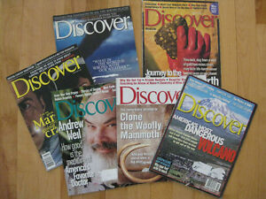 "6 OLDER ISSUES OF ""DISCOVER"" MAGAZINE"