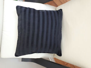 Black Fabric Decor Pillows