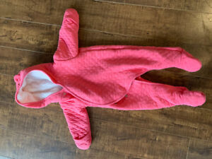 Infant baby girl sleeper under layer for snow suit.