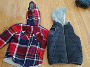 Boys plaid fall jacket and vest.