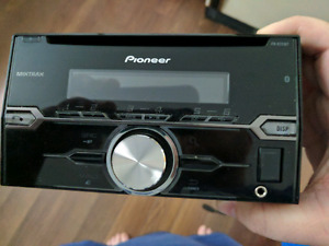 Pioneer double din bluetooth car stereo with USB and AUX