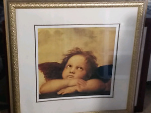Cherub Picture Framed