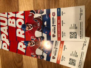 Paire de billets des Canadiens/Panthers
