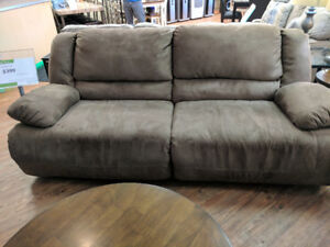 ASHLEY HOGAN RECLINING SOFA $299 NO TAX