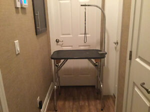 Like new small cat or dog grooming table with adjustable arm