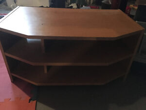 Wood entertainment stand