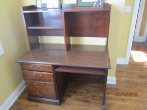 Solid Wood Desk with bookcase