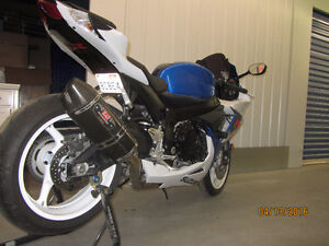 Practically new 2013 GSX-R 600 with lots of upgrades