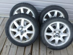 Brand-New Winter Tires with Rims - 205 50R16