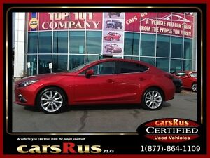 2014 Mazda MAZDA3 GT Loaded With Leather, Nav & Power sunroof!