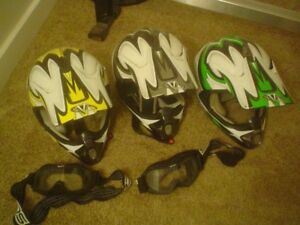 MOTORCYCLE DIRT BIKE HELMETS ADULT SMALL OR JUNIOR SIZES