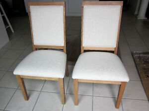 Two Bermex Solid Wood Chairs