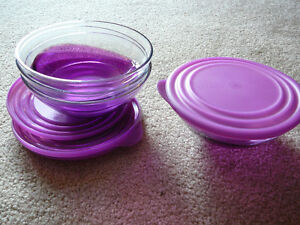 Tupperware Purple Wave Bowls with Lids