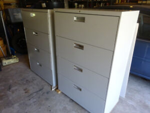 2 Metal Lateral File Cabinets-Home or Office Furniture / Storage