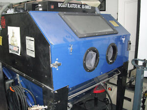 Sand Blaster Cabinet With Dust Collection System
