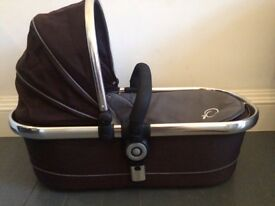 iCandy peach carrycot, mattress and rain cover QUICK SALE NEEDED