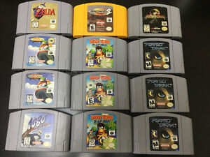 Nintendo 64 Games (see below for prices)