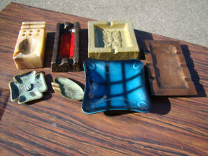 Lot of Seven Different Ashtrays