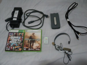 Xbox 360 Games, Hard Drive, Power Supply and more... $20