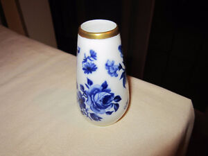 Small - Blue & White - Vase - Made in Germany