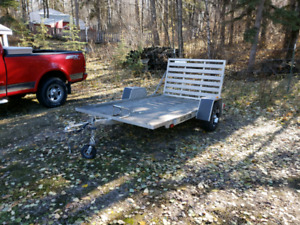 Aluminum sled or motorcycle trailer