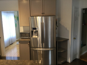Stainless steel Samsung fridge,stove and dishwasher