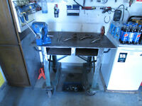 TWO WELDING TABLES