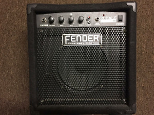 Fender Rumble 15 Amp with Ibanez 4 String Electric Bass