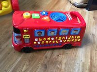 Playtime bus with phonics toy sounds etc