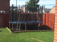 Trampoline nearly new 12ft