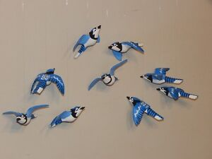 Hand Crafted Hanging Blue Jays