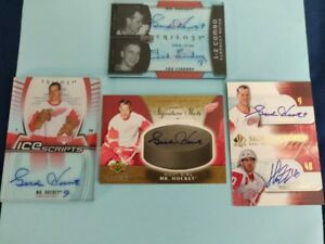 Gordie Howe - Authenticated Signed Sports  Cards (4)