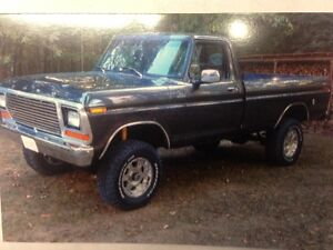 Ford F150 4x4 1978 restored custom