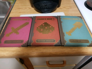 3 Minecraft Books gently used