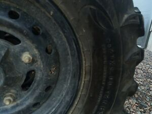 four tires and rims Can Am Commander 27inch tires