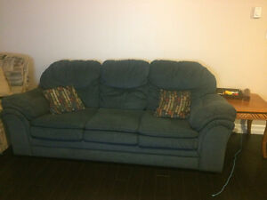 Comfy Used Couch with Pillows