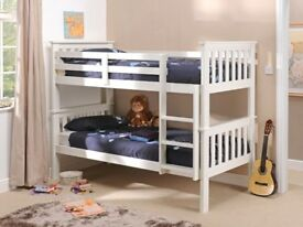 PORTO BUNK BED SATIN WHITE